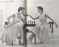 Vogue Pattern Book, August-September 1954 featuring Vogue 8329 and 8352