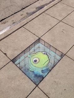 STREET ART UTOPIA » We declare the world as our canvasChalk Art by David Zinn in Michigan, USA374567 » STREET ART UTOPIA