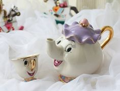 Mrs. Potts and Chip Tea Pot and Cup Set - $79