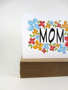 Mother's Day Card, Greeting Card, Happy Mother's Day,  Thank You Card -  so bright and happy bound to make mom smile :)