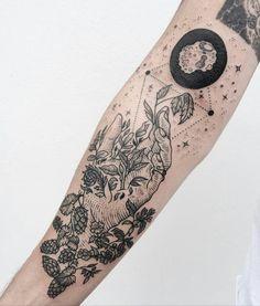 acorns, space filler Pony Reindhart Tattoo Instagram @freeorgy Tenderfoot Studio