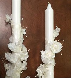 Greek Candles Religious Lambathes or Lambades Candles (Lambatha / Lambada)