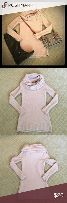 "🍂NWOT!🍂VS Sweater Dress/Tunic! Gorgeous, insanely soft sweater dress/ tunic from Moda for Victoria's Secret. Never Worn! Very light pink color. Neckline can be worn as a cowl neck as pictured or pulled down for a super on trend off the shoulder look. Shoulder to hem is 27"". Would look so beautiful over brown leggings with riding boots, or wear without leggings and heeled boots for a super sexy outfit! Bundle for the best discount or make me an offer! Victoria's Secret Dresses Mini"