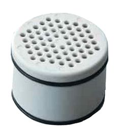 This shower head filter replacement cartridge fits both of MineralPro's shower head filters – wall mount and hand held models.