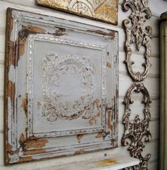 Antique Ceiling Tiles  Might Be The Answer For The Porch Wall Decor I Am  Looking For. | Bricks | Pinterest | Ceiling Tiles, Ceilings And Wall Decor