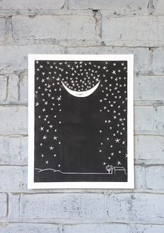 Linocut Prints, Art Prints, Block Prints, China Art, Moon Art, Wall Art Designs, Printable Wall Art, Sculpture, Paper Art