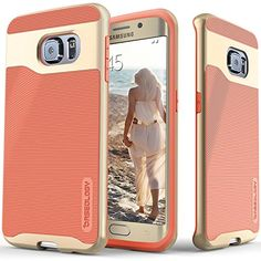 Galaxy S6 Edge case, Caseology® [Wavelength Series] [Coral Pink] Textured Pattern Grip Cover [Shock Proof] Samsung Galaxy S6 Edge case Caseology http://www.amazon.com/dp/B00W65VYZM/ref=cm_sw_r_pi_dp_.pnywb145Y7RH