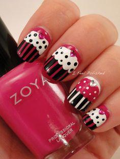I Feel Polished cupcake #nail #nails #nailart