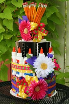56 Best Marilyn's Bday images | School supplies cake