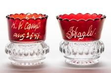 HEISEY NO. 1220 / PUNTY BAND - RUBY-STAINED TOOTHPICK HOLDERS, LOT OF... Lot 720