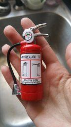 Cute Fire Extinguisher Lighter With LED Ligh