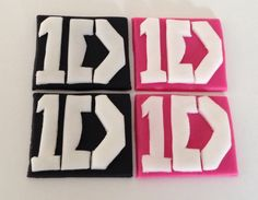8 x edible icing One Direction 1D themed cupcake toppers by ACupfulofCake on Etsy £16.75