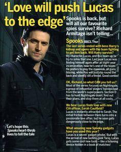 Richard Armitage Love Will Push Lucas to the Edge - Spooks - MI-5