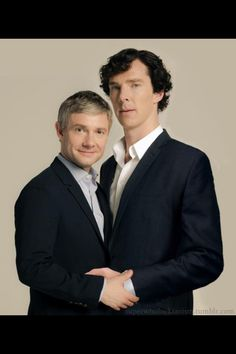 Benedict Cumberbatch and Martin Freeman photoshoot. #BenedictCumberbatch #MartinFreeman