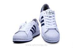 adidas originals baskets superstar 2 homme blanc/bleu marine