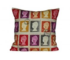 Not Mass Produced Blog   - Stamp queens head cushion