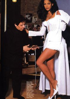 Veronica Webb and Azzedine Alaïa, ELLE, May 1992