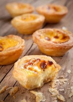 Pasteis de nata © WitthayaP - shutterstock Those really look like they are . Mini Desserts, Dessert Recipes, Egg Tart, Food Tags, Portuguese Recipes, Cuban Recipes, Sweet Recipes, Sweet Tooth, Food And Drink