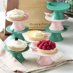 Birdie Dessert Pedestals, Set of 4  How cute these are for mini desserts...love