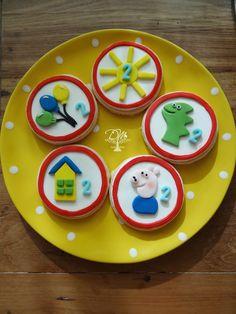 Tema Peppa Pig - Cookies Decorados