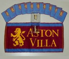 Aston Villa Pint Glass Mini Bar Set by Aston Villa F.C.. $15.02. Your beer will definately taste better in this official Aston Villa pint glass which also comes with a bar towel and a set of coasters - available for immediate delivery. Code: MUG126 Aston Villa ~ Pr