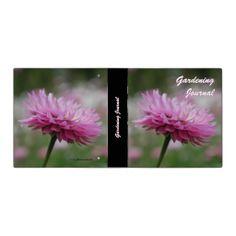 Pink Paper Daisy Flower Vinyl Binders