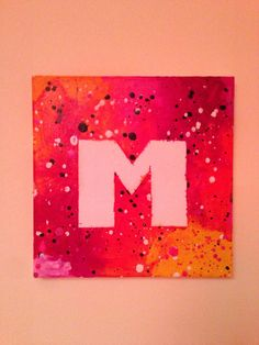 Melted crayon. Done this one with my daughter and used her first initial