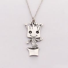 Guardians of The Galaxy : Baby Groot Pendant Necklace