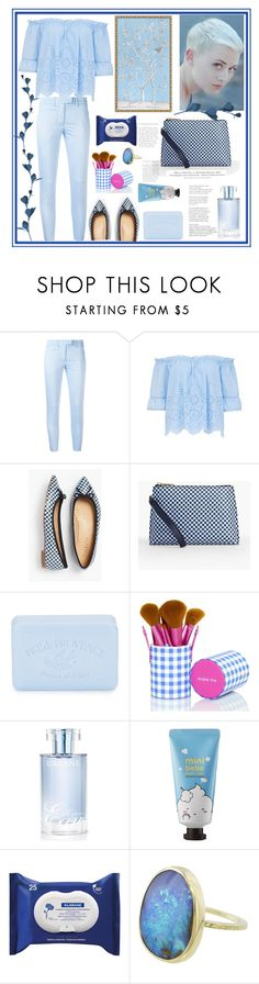 """""""Something blue"""" by natalyapril1976 on Polyvore featuring Dondup, Talbots, Pré de Provence, Orlane, Sephora Collection, Klorane and H&M"""