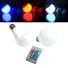 ALED LIGHT® RGB LED BULB, E27, 16 Wählbare Farben, Mit Fernbedienung (