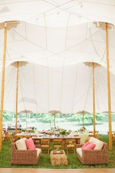 sperry tent + spring wedding decor | Ritzy Bee Events + Abby Jiu photography