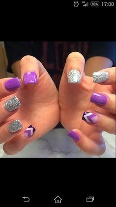 Purple, stripes and sparkle
