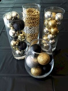 There are many Gatsby Party Ideas that you can try on our current articles, check this out. So if you're prepared to party this up, Gatsby-style Great Gatsby Party Decorations, Gold Christmas Decorations, New Years Decorations, Birthday Party Decorations, Gold Ornaments, Christmas Ornaments, Black And Gold Party Decorations, Black Gold Party