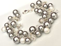 Love the pearls and silver sparkles