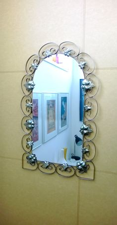 Your place to buy and sell all things handmade Arch Mirror, Ivy Leaf, Hollywood Regency, Cottage Chic, Metal Walls, Wrought Iron, Decor Styles, In The Heights, 1960s