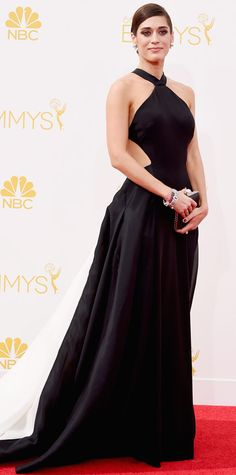 Emmy Awards 2014 Red Carpet Photos - Lizzy Caplan in Donna Karen from   InStyle Emmys a4ac3594878b