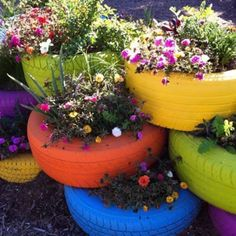 Thinkin green; way to use old tires