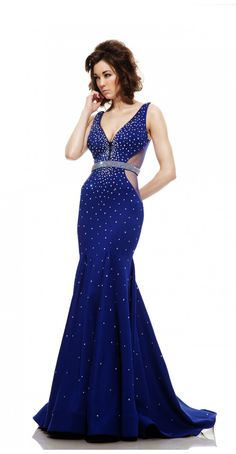 Elegance is yours in Johnathan Kayne This neoprene jersey long gown features a modified V-neckline. Twinkling beads adorn the form-fitting shape making you shine like stars. Prom Dresses 2016, Designer Prom Dresses, Formal Dresses, Crystal Belt, Formal Wear, Evening Gowns, Bridal, Elegant, How To Wear
