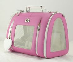 How about using a dog stroller for a long walk? Small Dog Accessories, Dog Carrier Purse, Airline Pet Carrier, Dog Stroller, Pet Organization, Pet Bag, Puppies And Kitties, Chihuahua Dogs, Pink Dog