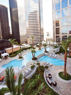 Pool view from his condo