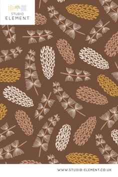 Created by Belma Kapetanovic of Studio Element in London, UK. Click to visit my website, see more designs and commission work Graphic Design Pattern, Graphic Patterns, Seed Pods, Different Shapes, Woodland, Seeds, Gardens, London, Website