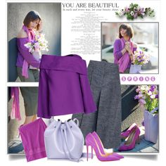 Spring Purple & Grey by brendariley-1 on Polyvore featuring J.W. Anderson, STELLA McCARTNEY, Christian Louboutin, Rachael Ruddick and Uniqlo