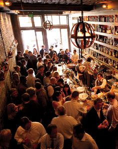 "Rickhouse  San Francisco  First words you'll utter at Rickhouse: ""Give me a minute."" The menu is twenty-eight pages long. It opens with a table of contents. Skip it and try our favorite: the Laphroaig Project, a strange yet pleasant mix of tropical flavors, herbaceousness, and peat.    246 Kearny St.  415-398-2827   www.rickhousebar.com"