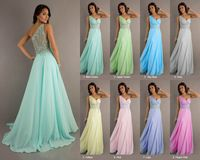 Sexy Sheer Back Long Prom Dresses 2015 New Crystal Appliques Evening Dress Party Gown with Short Train