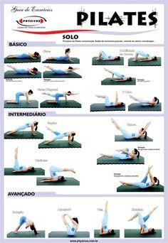 Diferentes ejercicios que puedes realizar en #pilates según tu nivel, básico, intermedio y avanzado   www.logarsalud.com