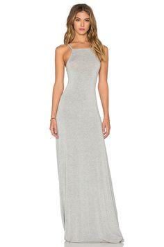 LA Made Lizzie Maxi Dress in Heather Grey