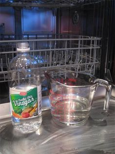 How to clean your dishwasher. Mine needs to be cleaned desperately!
