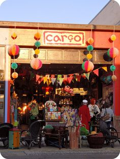 Funky store front in Astoria, Oregon   I've been to the Portland store but not the Astoria one.