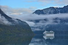 MS Azura heads toward Flåm Art Prints For Sale, Cruise Ships, Norway, Ms, Travel Photography, Europe, In This Moment, Fine Art, Mountains