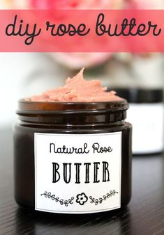 Looking for a vegan friendly moisturizer DIY? This rose body butter recipe naturally nourishes skin without a greasy feeling like traditional body butters.